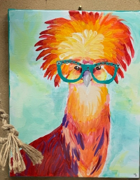 10-13 chickin in glasses